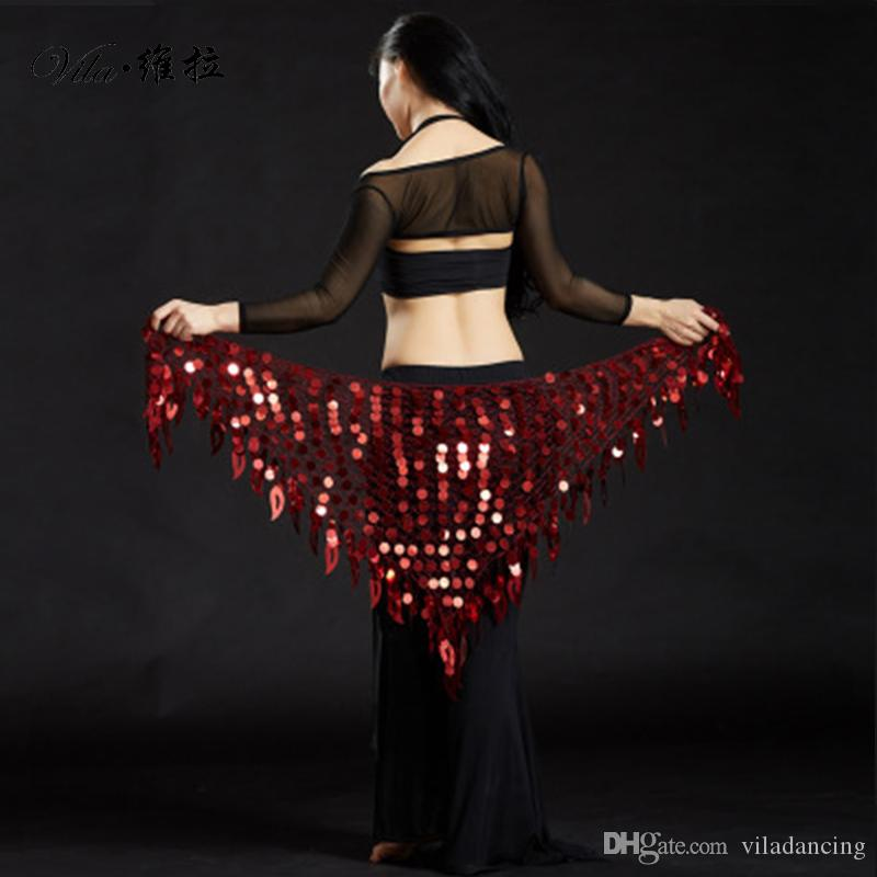 11 colors Mermaid Sequin Belly Oriental Eastern Dance Belts Costumes for Womens Bellydance Hip Scarves Scarf Dancing Indian Waist Chains