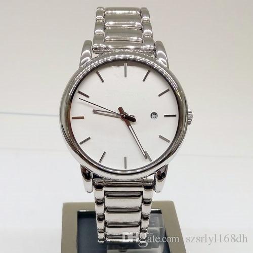 Quarzuhr der Art und Weisemänner, AR1854 drei-Stift-Edelstahl-wasserdichte Uhr, silberne hohe Qualität. Groß-und Einzelhandel + kostenloser Versand