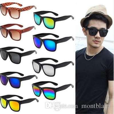 Gafas de sol de la vendimia Mujeres Hombres Diseñador de la marca Mujer Hombre Gafas de sol retro Gafas de mujer con espejo
