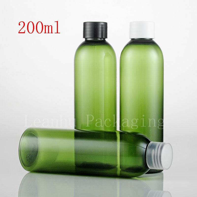 200ml green bottle with plastic screw lid