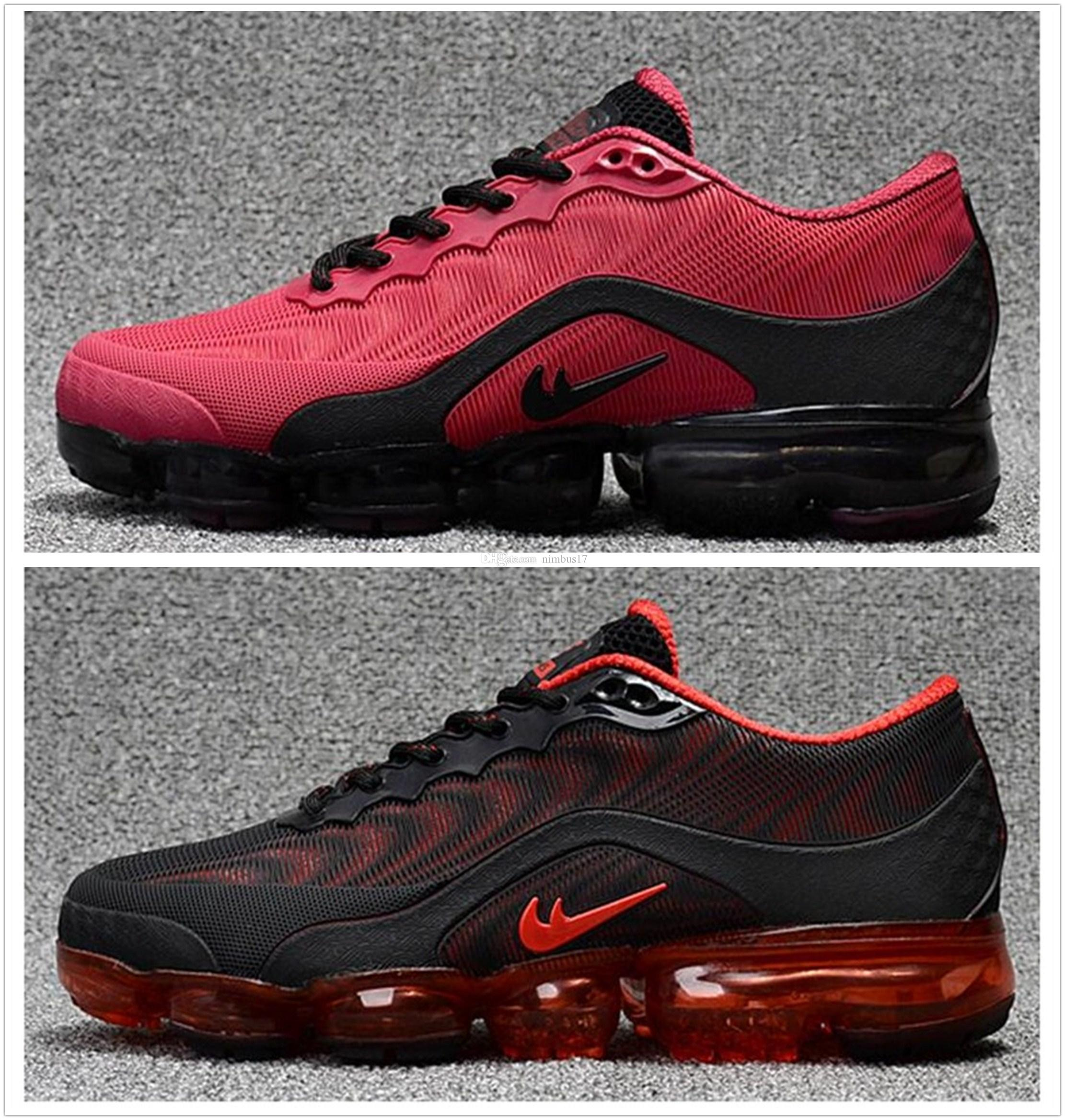 quality design e6921 e7759 2018 New Men Air Cushion Running Shoes New 2018.5 Air Vapormax Kpu Women  Casual Sneakers Outdoor Breathable Vapor Athletic Shoes 40 47 Cheap Shoes  For ...