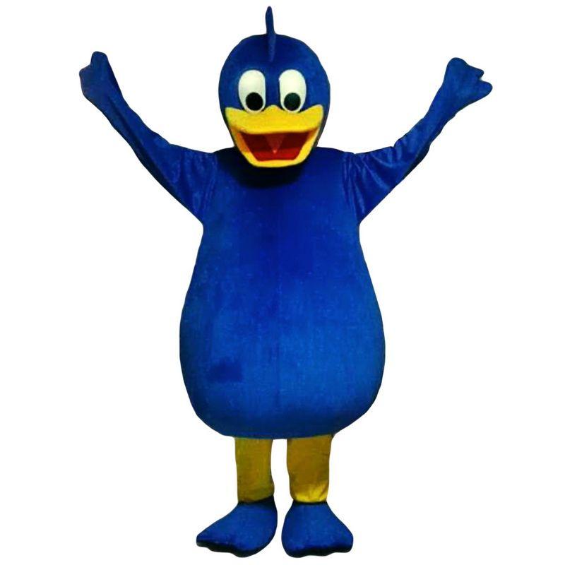 Голубая утка талисман костюмы мультипликационный персонаж взрослый Sz 100% реальная картина 001