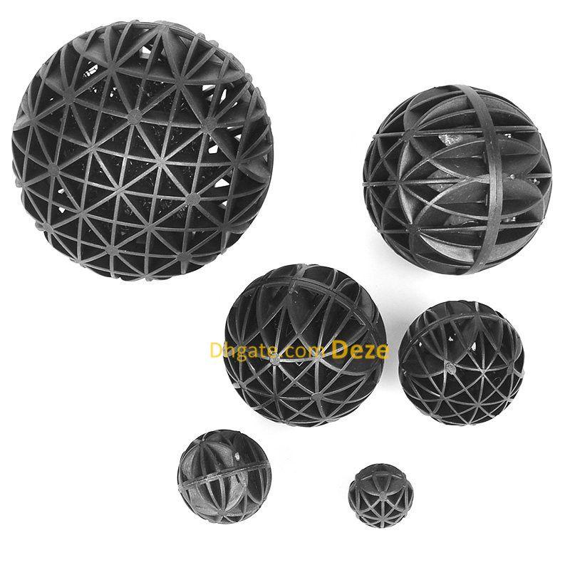10 Stks 76mm Aquarium Bio Balls Filter Media met spons voor visank Koi Pond Filter Bioballs