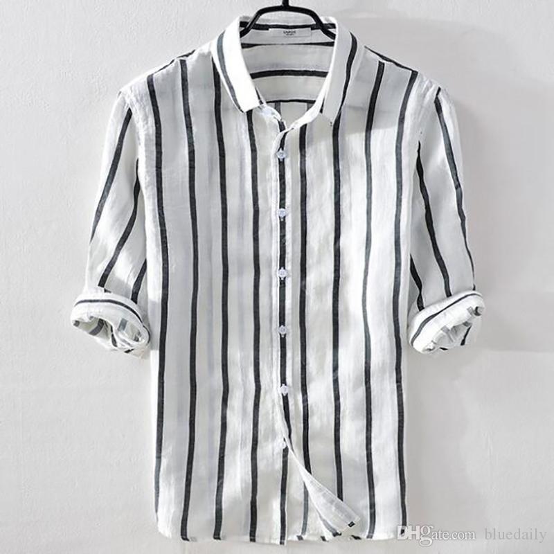 black and white striped shirt mens fashion