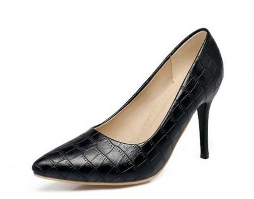 Бесплатно отправить горячие 2018 новый стиль острым концом туфли на высоких каблуках большой размер женщин один обувь 44-48 ярдов