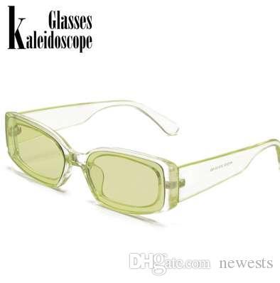 جديد أزياء فخمة نظارات المرأة العلامة التجارية مصمم ريترو مكبرة مستطيل نظارات شمس أنثى uv400 عدسة ييويرس