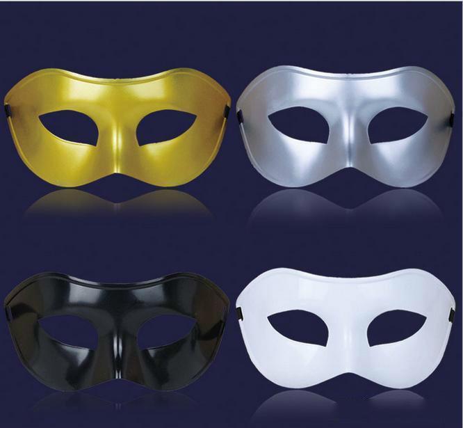 Мужская маскарадная маска необычные платья венецианские маски маскарадные маски пластиковые половина Маска опционально многоцветные 4 цвета