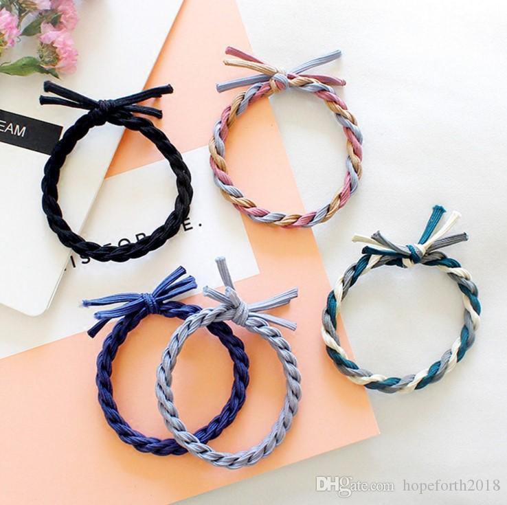 Hopeforth moda donna testa fiore dolce fascia per capelli 9 colori fascia elastica ragazza accessori per capelli strumenti