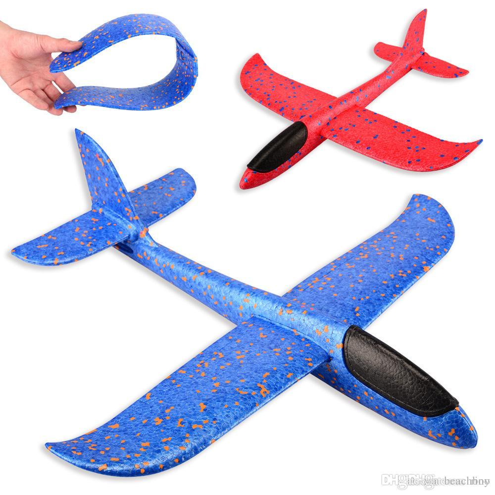 48cm Foam Throwing Glider model Air Plane Inertia Aircraft Toys Hand Launch Airplane Model To glide the plane Flying Toys
