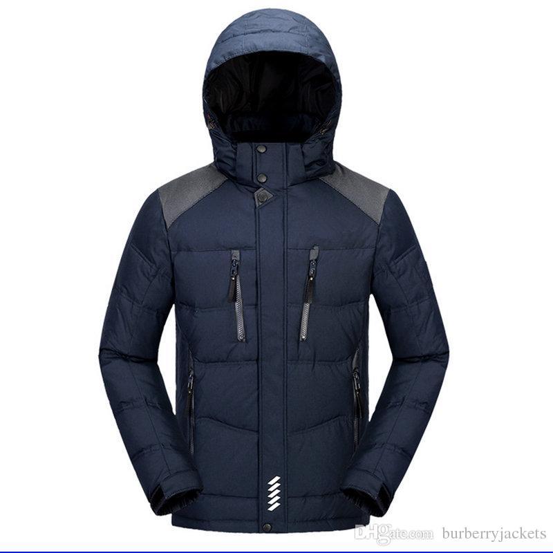Neue stil Männer Winter Jacken Norden Mäntel Warme Daunenjacke Outdoor Mit Kapuze gesicht der Männer unten Parkas 282