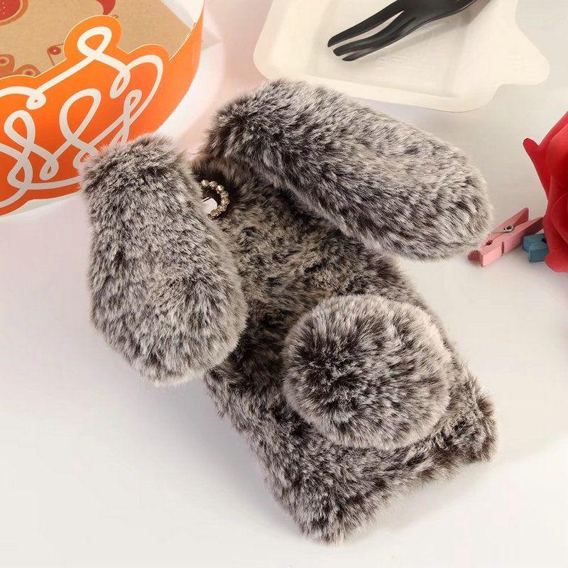 3D Cute Rabbit Doll Plush Cover For Xiaomi 6 Plus 5 6 7 Case Diamond Bling TPU Soft Cover for Xiaomi 8 8SE Capa Hairy Girl Coque