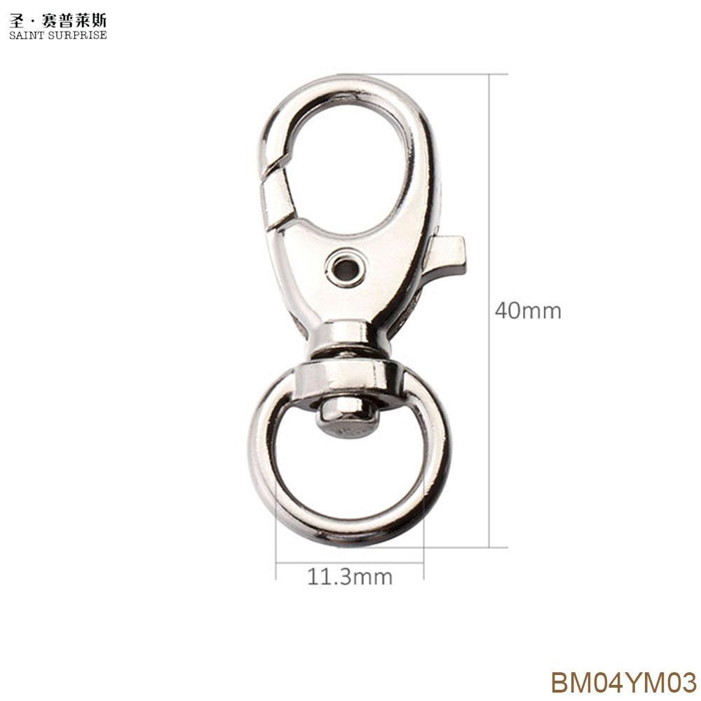 10Pcs 40mm Swivel Trigger Clips Snap Hooks Lobster Clasp Keychain Bag DIY Craft Key Buckle Bm04ym03