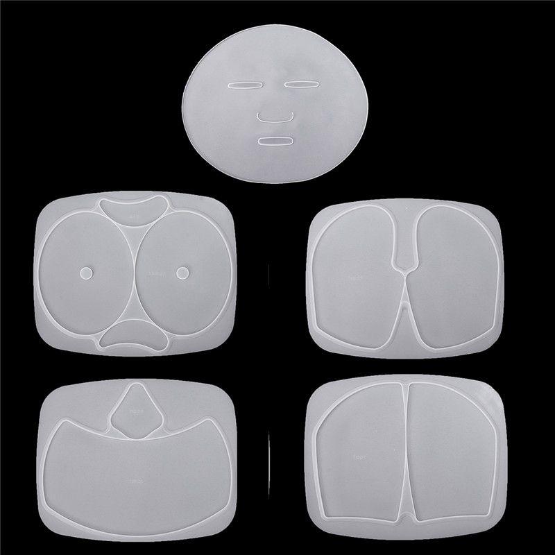 5 sztuk Maska silikonowa Maszyny do twarzy Maski Plate Mold Taca DIY Dokonywanie pielęgnacji skóry do automatycznego owoce warzyw maski maski maski