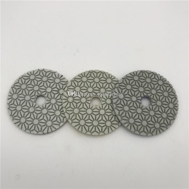 3-х ступенчатая полировальная подушка 3 дюйма (80 мм) для гранита, мрамора, искусственного камня, круг полировального круга, шлифовальный диск, шлифовальный диск, сухой или влажный 3 шт. / Лот