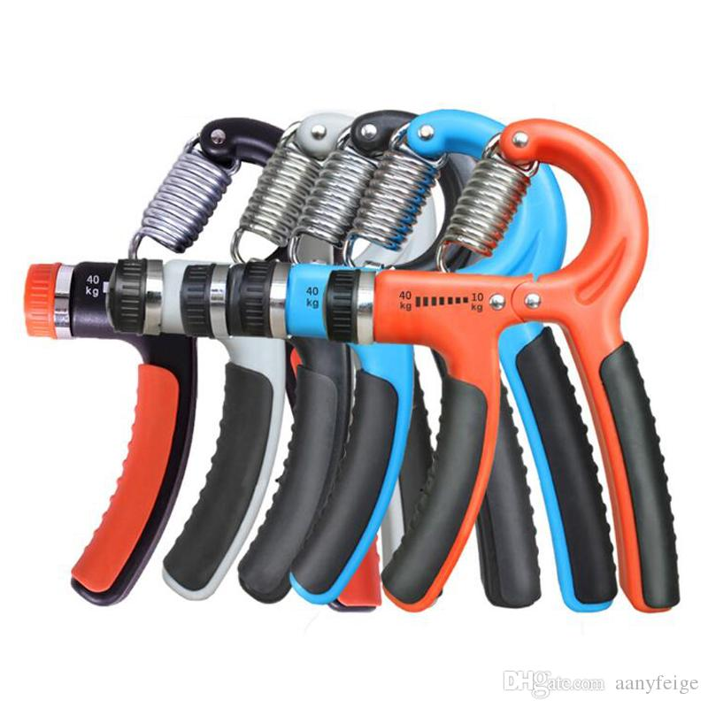 10-40kgs Plastic Adjustable Hand Grip Fitness Pinch Meter Portable Hand Expander Hand Gripper Exerciser Tool With Retail packaging