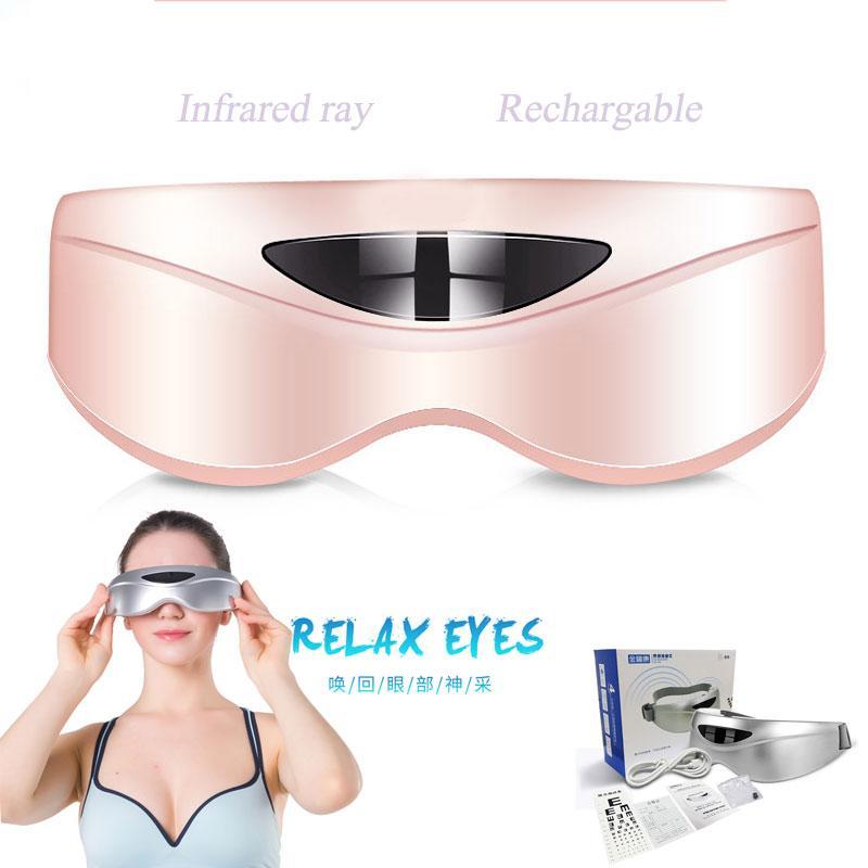 Elétrica Eye Care Massageador Aliviar A Fadiga Infravermelho Ray Proteção Para Os Olhos Dark Cirkel Eyesight Melhoria Massagem Óculos