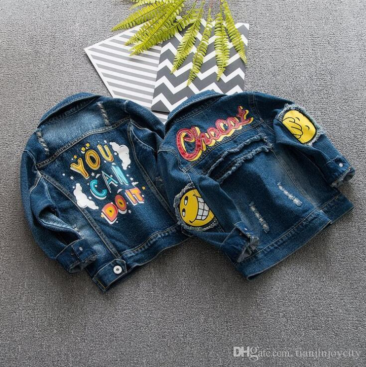 Autumn And Winter boys Denim Jacket 2018 Vintage baby boys Jeans Coat Solid Slim Chaquetas boys Coats 6M-3YEARS