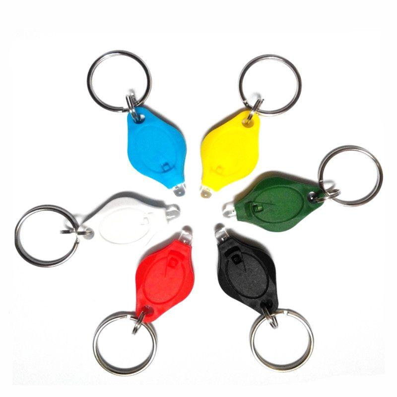 Mini Torch Key Chain Ring PK Keyring White LED Lights UV Light LED Bulbs Micro Light LED Keychain Flashlight