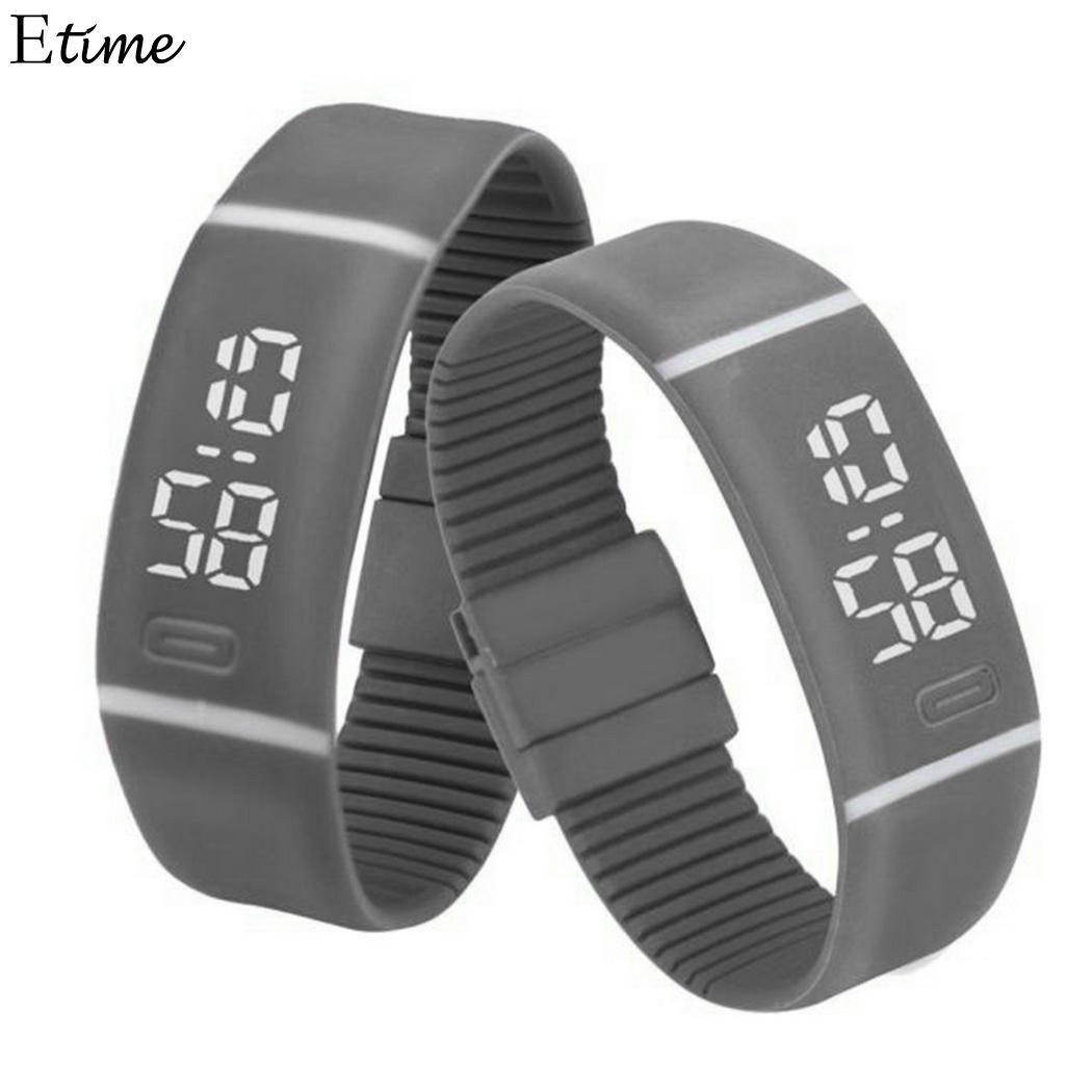 FANALA Sports Watch Women Men Rubber LED Digital Watch Date Bracelet Wrist Watches relogio masculino
