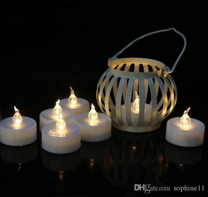 LED 전자 촛불 불꽃없는 램프 헤드 불꽃 깜박임 빛 촛불 크리스마스를위한 현실적인 배터리 전원 촛불 발렌타인 데이