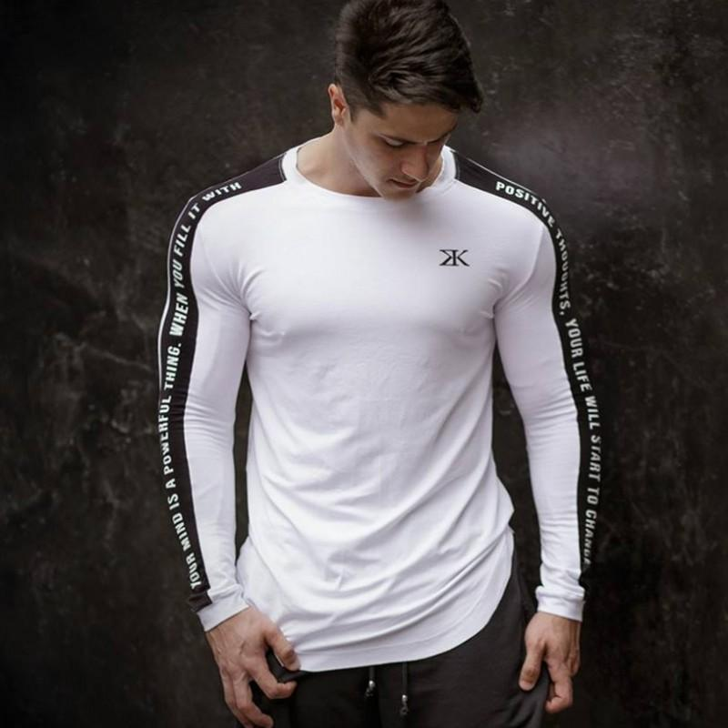 Frieed Mens Long Sleeve Pullover Solid Color Casual Muscle Slim Fit Round Neck T-Shirts Tops