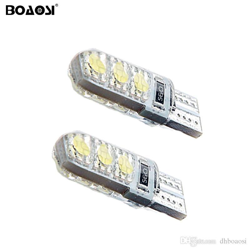 Voiture Universelle Led Lumière 5050 SMD T10 W5W Led Cristal Silice Ampoule Intérieur Lumières Externe Lampe Plaque D'immatriculation Lumières Sidemarker Parking Lumière