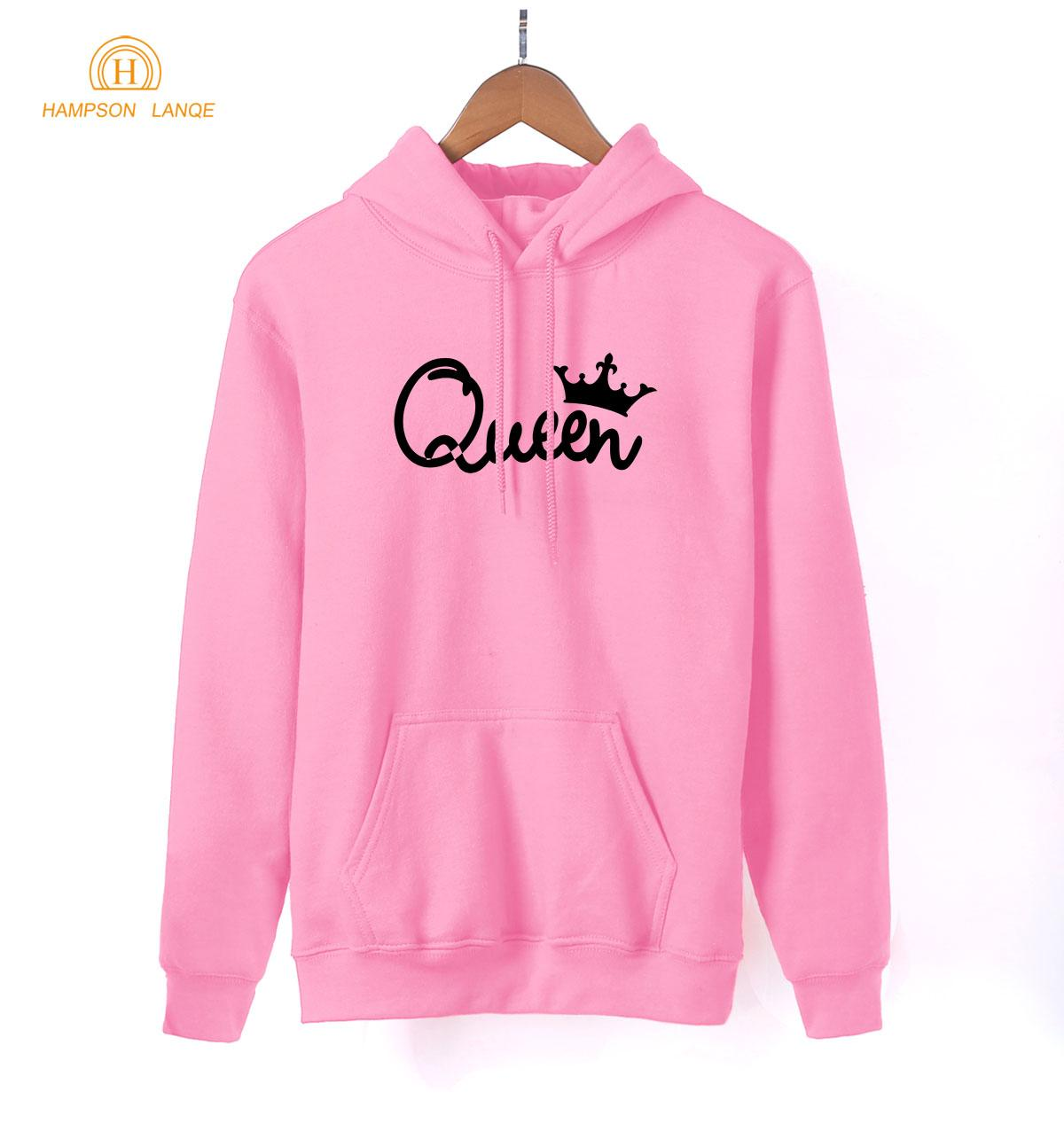 Imperial Queen Drucken Weiblich Pullovers 2018 Hot Spring Netter Herbst Sweatshirts Frauen Slim Fit Pullover Rosa Harajuku Hoody