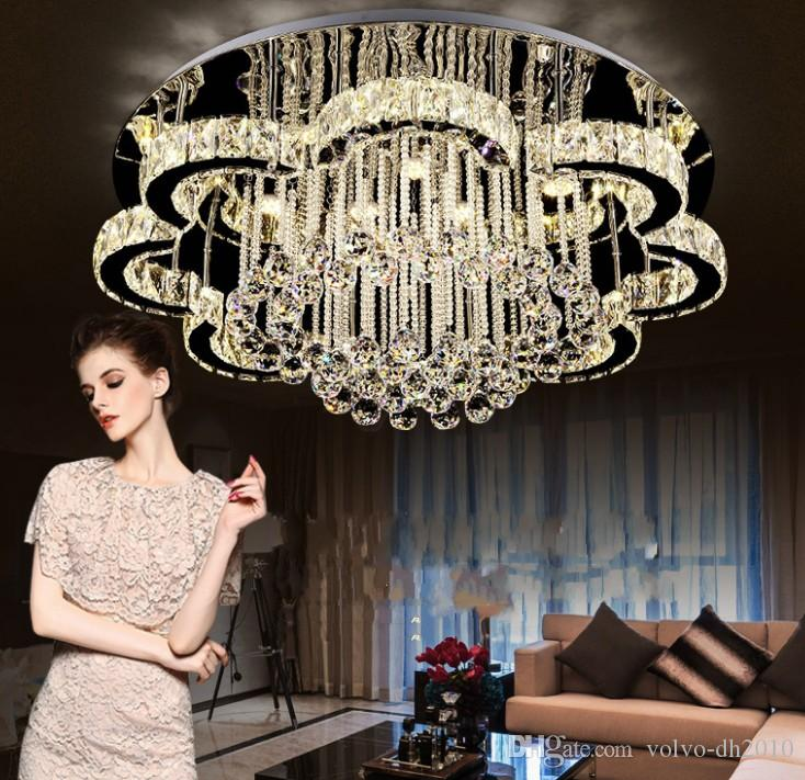 LED Modern Stainless Steel Crystal LED Lamp LED Light Ceiling Lights.LED Ceiling Light Ceiling Lamp For Foyer Bedroom LLFA