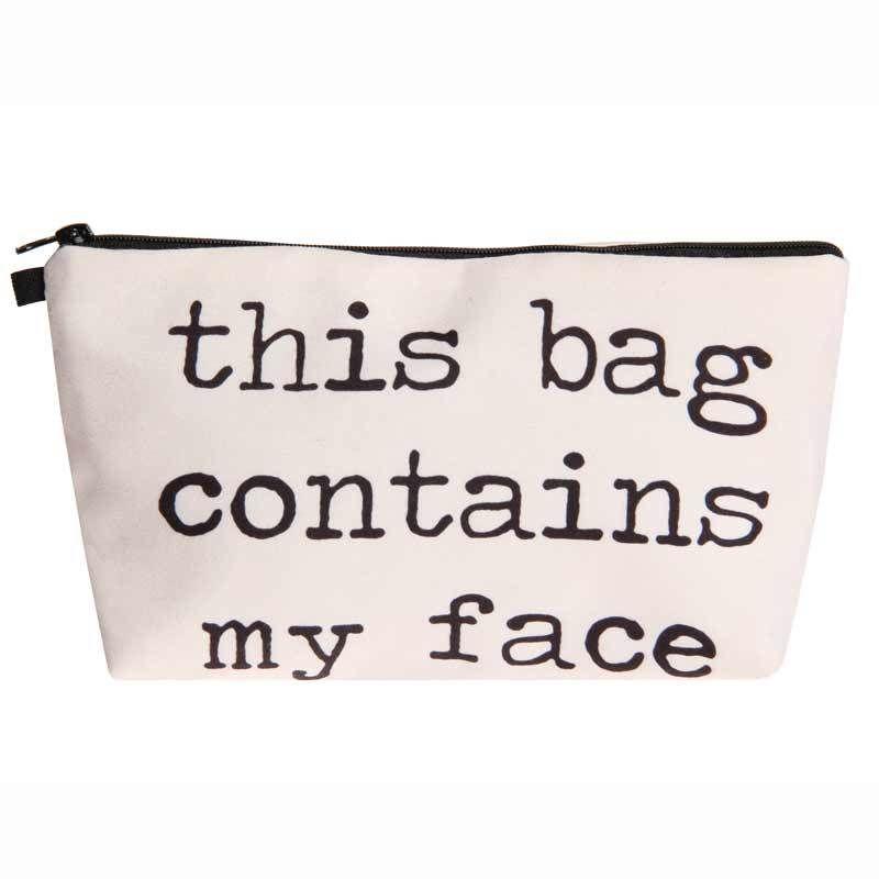 Jom Tokoy 2018 3D الطباعة حقيبة مستحضرات التجميل أزياء المرأة حقيبة ماكياج حقيبة سفر منظم هذه الحقيبة تحتوي على وجهي