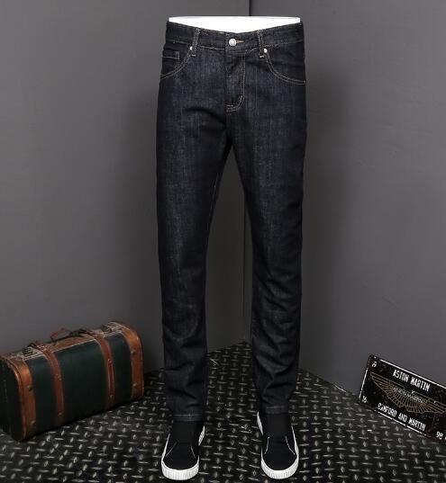Nouvelle arrivée! 2018 nouveaux jeans brodés station européenne pantalon pieds élastiques jeunes pantalons longs