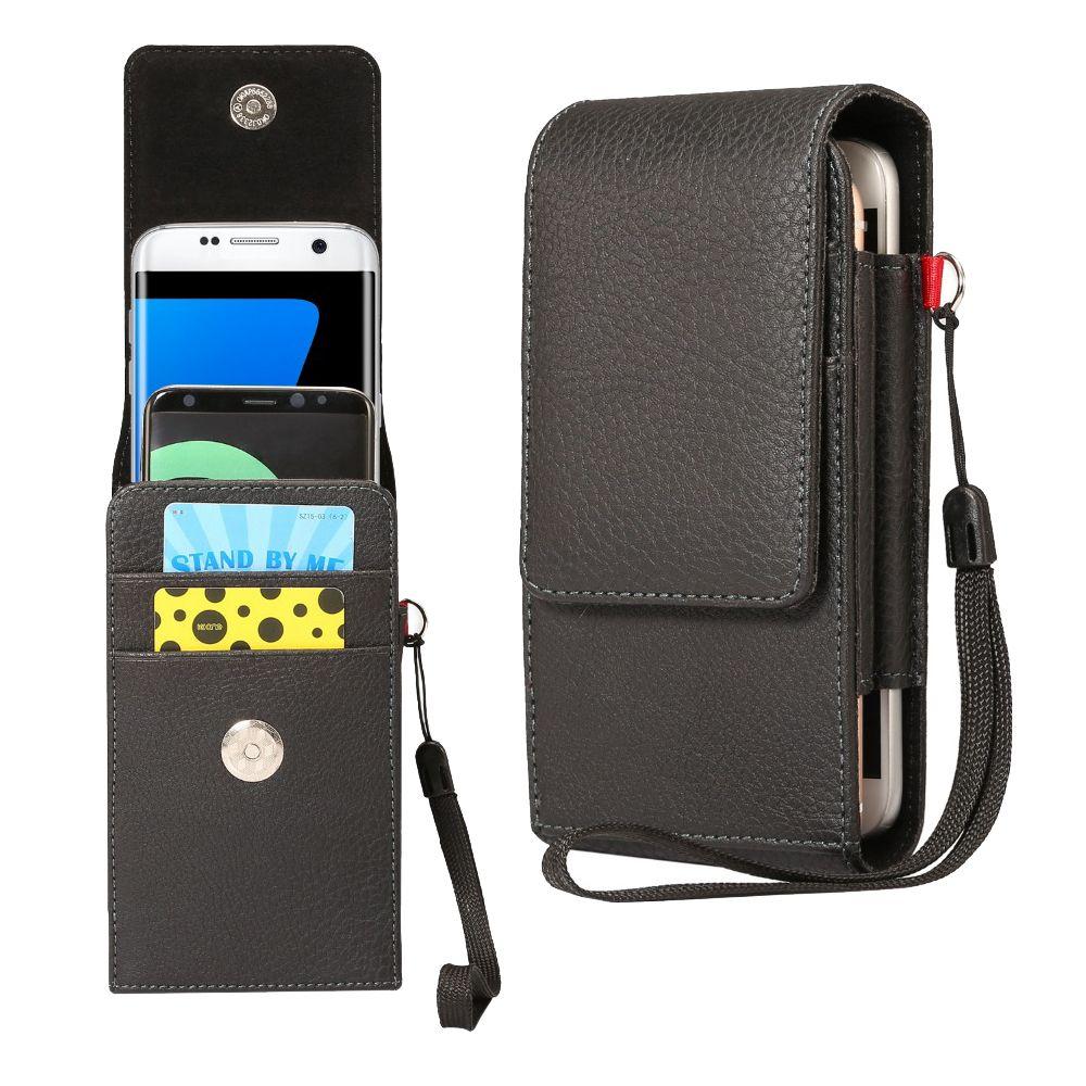 2 Bolsas de diseño de bolsa de cintura para iphone 4 5 6 7 Teléfonos móviles Funda para teléfono Funda con clip de cinturón Hombres Bolsa de negocios para iphone 6 7 plus