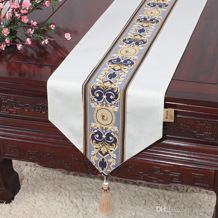 Courte longue Patchwork Dentelle Coton Chemin De Table En Linge De Table Décorative Haut De Gamme Table De Table Européenne Chinois Table Tissu 33 x 150 cm