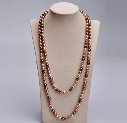 Южное море смешанный цвет оболочки жемчужное ожерелье 120 см из бисера ожерелья