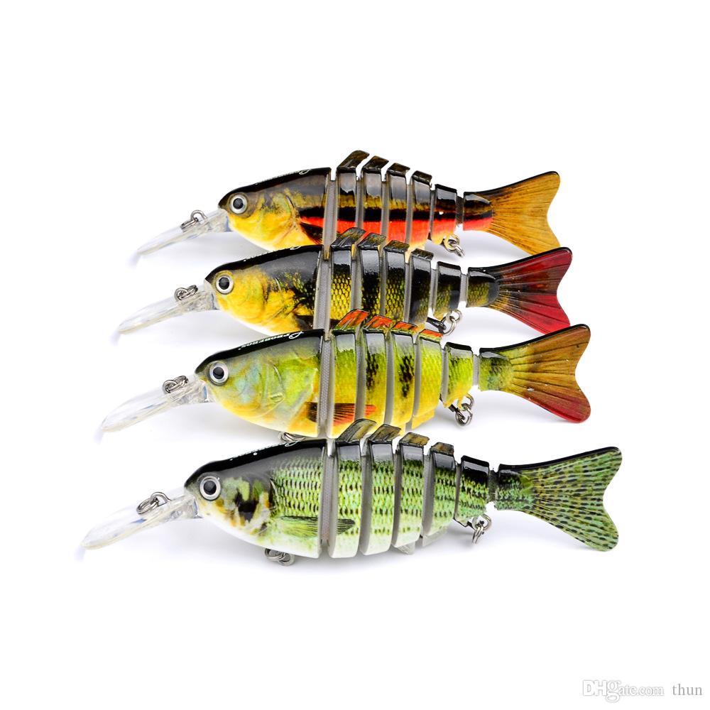 20 ADET 11.2 CM 14G Minnow Lures Swimbait Iscas Yapay Canlı Eklemli Balıkçılık Lures