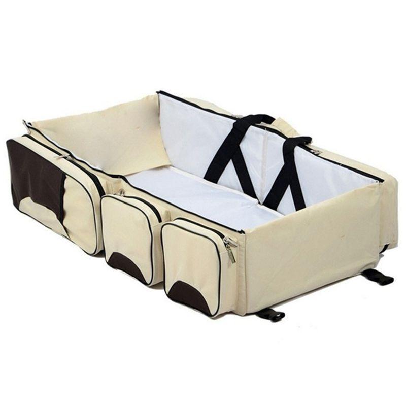아기 3 in 1 다기능 기저귀 가방 여행 Bassinet - 휴대용 바 그 티넷 변화 패드 스테이션