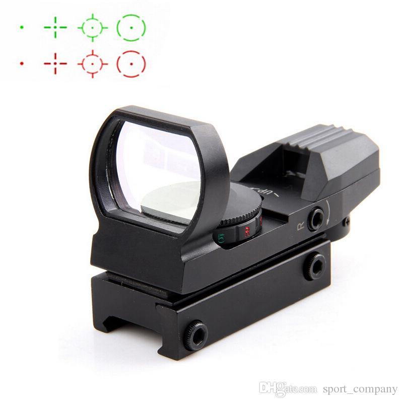 20 / 11mm Taktische Holographische Zielfernrohrreflex 4 Absehen Schiene Jagdoptik Roter Grüner Anblick Taktischer Anblickbereich mit Montierung