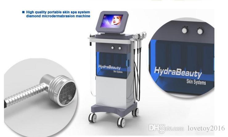 ¡¡¡El más nuevo!!! cuidado de la piel belleza facial equipamiento / dermoabrasión facial Hydra máquina / ultrasónica piel lavador de cáscara de spa