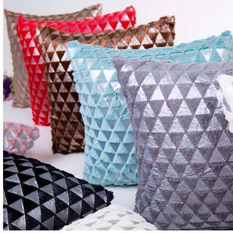Cojín decorativo 45x45cm almohada de felpa sofá cintura Throw Cojín decoración para el hogar almohada cubre decorativo