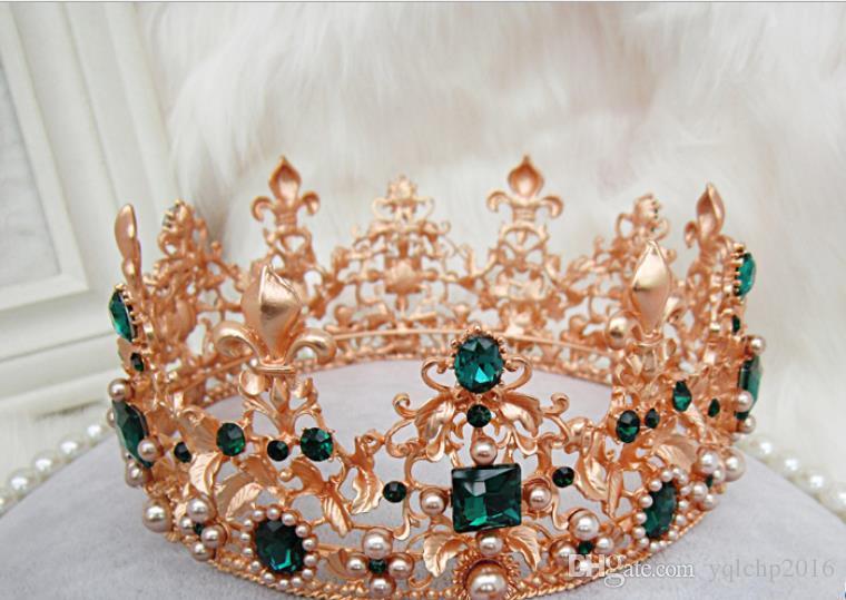 Brautschmuck Vintage Crown Wang Hao High-End-Kopfbedeckungen Hochzeitskleid Zubehör