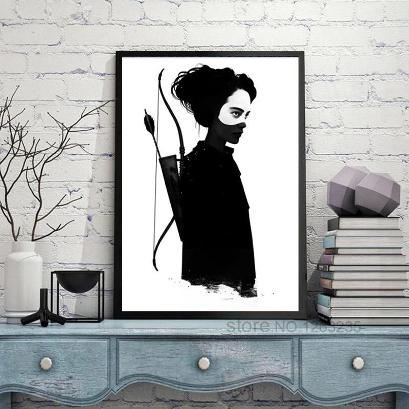 Nordic Style Minimalist Painting On Canvas Printed Abstract Cool Girl Wall Art Poster Pictures For Living Room Decor No Framed