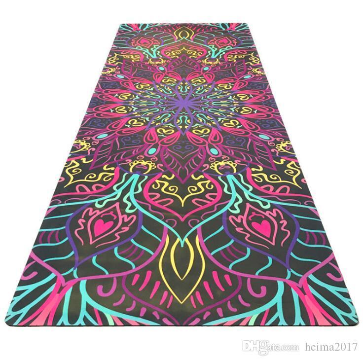Padrão de moda yoga fitness mat qualidade de saúde não-slip camurça tapete de borracha direto da fábrica