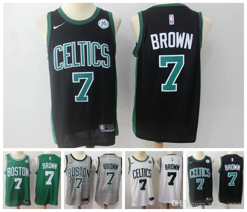 size 40 0384a 7f244 2019 2019 New Mens 7 Jaylen Brown Boston Jersey Celtics Basketball Jerseys  100% Stitched Mesh Dense AU Celtics Jaylen Brown Basketball Jerseys From ...