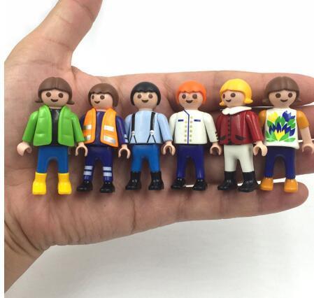 Acheter 5. 5 Cm Playmobil Jouets Ensemble Original 2016 Nouveau Playmobil  Police Pirate Princesse Cheval Maison Figurines Cadeaux Pour Enfants 2017  De ...