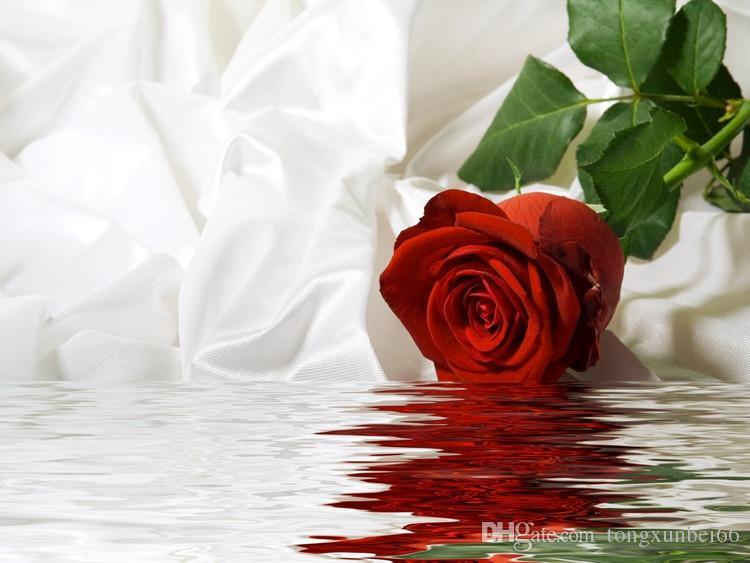 Compre Sob Encomenda Da Foto Papel De Parede 3d Enorme Mural Rosa Vermelha Papel De Parede Quarto Sofá Tv Papel De Parede Murais Papel De Parede De