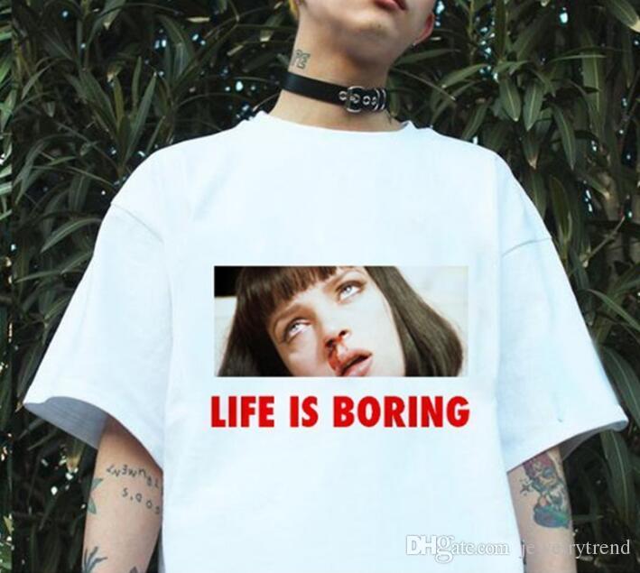 Hot Summer T-Shirts Uomo Donna Lettere Top Tee Cotone manica corta TShirts 4 colori S-3XL C3363