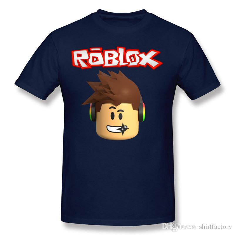 Mens 100 Cotton Roblox Character Head Tee Shirt Mens Crew Neck