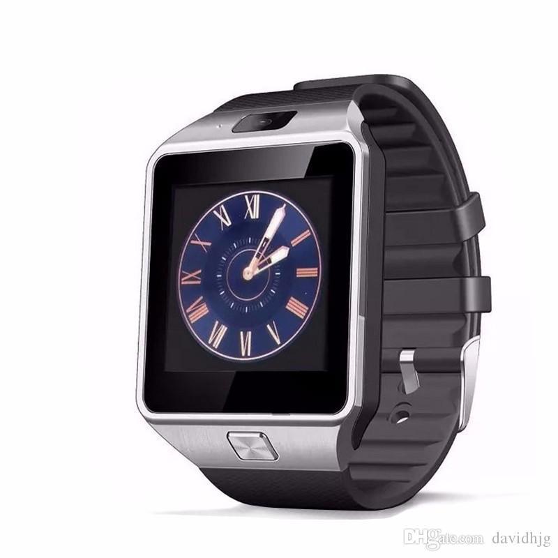 Smartwatch 2018 mais recente dz09 bluetooth smart watch cartão sim suporte para apple samsung ios android telefone celular 1. 56 polegada