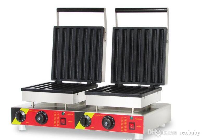110 v 220 v waffle stick maker dupla cabeça churros máquina elétrica comercial waffle churros que faz a máquina