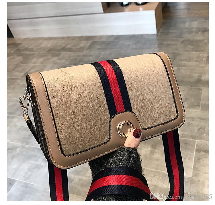 2018 Novas Senhoras Da Moda Listras de Ombro sacos Ferrolho Mensageiro Crossbody sacos Youkeyoupin / 10