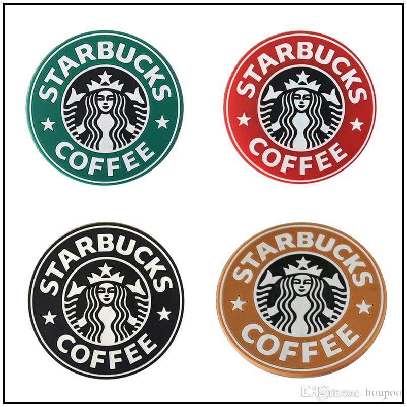 Fashion 8.5cm Silicone Coasters Thermo Cup Cushion Holder Starbucks Sea-maid Coffee Mugs Water Bottle Mat 7 Colors
